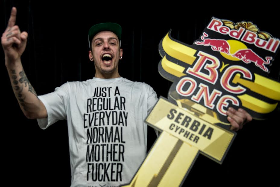 Red Bull BC One Cypher in Belgrade, Serbia on March 28, 2014.